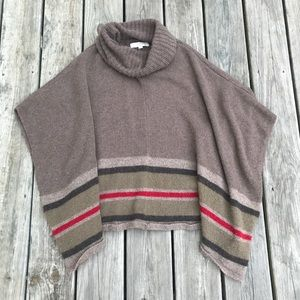 LOFT striped poncho sweater
